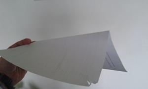 Cosa succede ad un ventilatore industriale quando si usano i rinforzi? Esempio foglio di carta