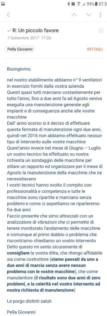 opinione ventilazione sicura Giovanni Pella