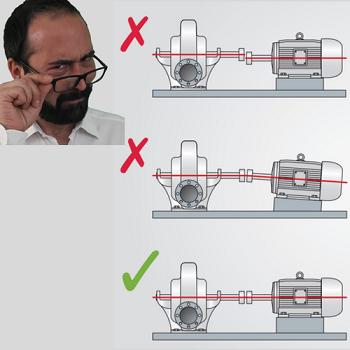 giunto meccanico ventilatore disallineamento