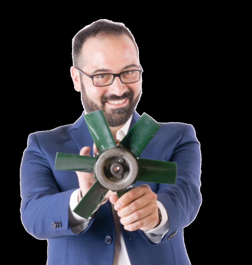Diego Perfettibile autore della guida sui ventilatori ATEX