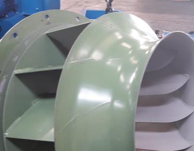 Ventilatore ATEX per polveri di alluminio accumulo polveri su girante