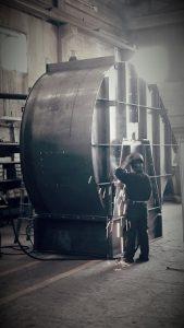 ventilatore centrifugo chiocciola in costruzione
