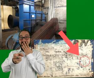 ventilatori industriali che durano 22 anni foto della targa
