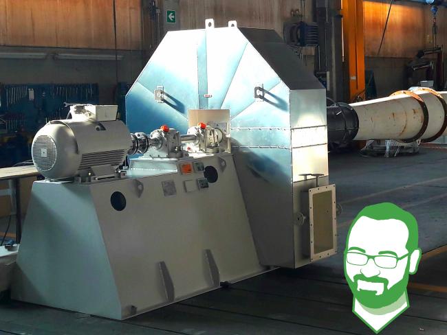 ventilatori industriali esecuzione 8G con giunto meccanico