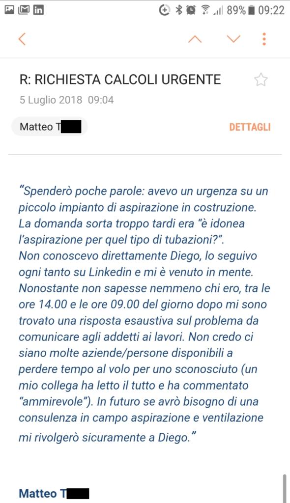 opinione ventilazione sicura Matteo T
