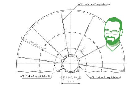 ventola di ricambio per ventilatore esempio disegni guida