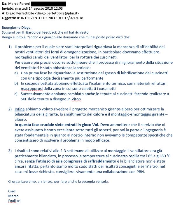 opinione ventilazione sicura Marco Peroni