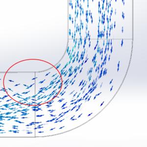 perdite di carico concentrate turbolenze curva